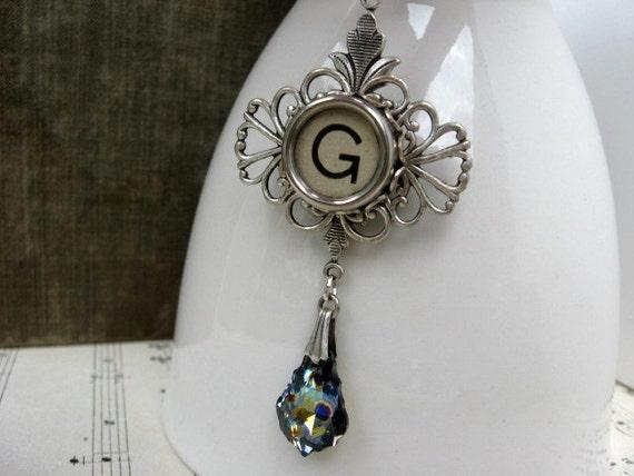 Typewriter Necklace - Letter G