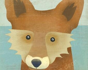 fox fine art reproduction print