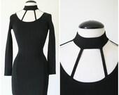 vintage 90s SEXY CUT OUT body con mini dress size S M