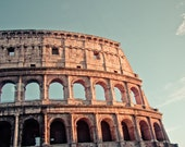 Rome Colosseum in the sunset - 8x12 Roma Italy city ancient rome fine art photography home decor Rome light sun summer
