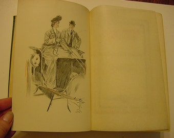 The Main Chance Antique Book Meredith Nicholson 1903 Harrison Fisher Lithograph Plates Lady