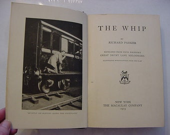 1913 The Whip Theater Play Stage Silent Film Era Antique Photoplay Book
