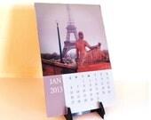 Desk Calendar, 2013 Paris Desk Calendar with Stand, Lynn Cameron Photography