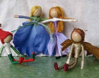 Doll of the Season - gift set - Elves, Christmas ornaments, Flower fairy dolls, seasonal dolls - shipping included