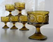 Vintage Noritake Antique Gold Spotlight Sherbet Glasses Set of Eight
