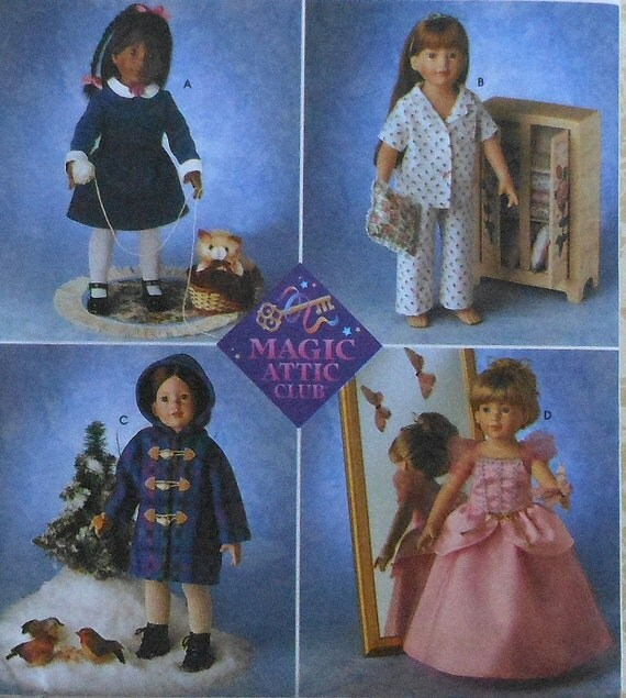18 Magic Attic Club Doll Clothes Sewing Pattern Uncut