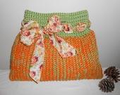 Crochet Tote Bag - handbag purse bag tote crochet autumn fall evening bag - Autumn in the 70's Terrifically Textured Tote