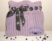 Lavender Blue Terrifically Textured Tote - crochet. lavender, purple, tote, purse, chunky, bag, handbag, blue, tote bag, market bag, crochet