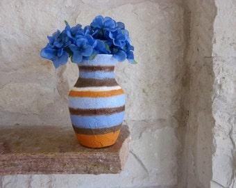 Vase / Blue and Orange Vase / orange and blue vase /  Home Decor
