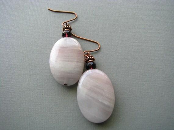 Lavender Quartz Earrings Purple Dangle Earrings, Beaded Dangle Earrings Gemstone Drop Earrings, Lilac Purple Earrings Semi Precious Jewelry