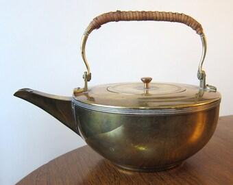 JAN EISENLOEFFEL jugendstil brass tea kettle Dutch Destijl 1900