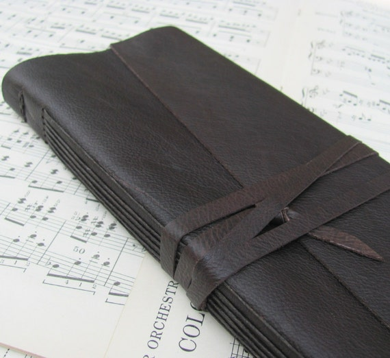 Ledger Style Leather Journal for Music Lovers