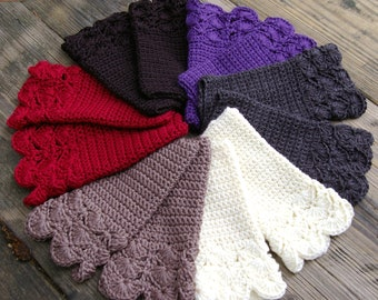 Arm Warmers Fingerless Gloves Hand Crocheted in Your Choice of Colors