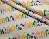 New: Mini Beach Huts - One Fat Quarter of Original Organic Cotton Fabric