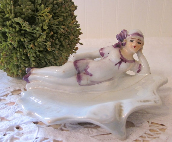 RESERVED for Michelle. Flapper Bathing Beauty Pin Dish Made in Japan.