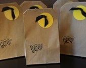 Bat and Moon Halloween Party Treat Favor Goody Bags