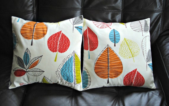 Pillows Turquoise Blue Red Orange Yellow Green Brown By