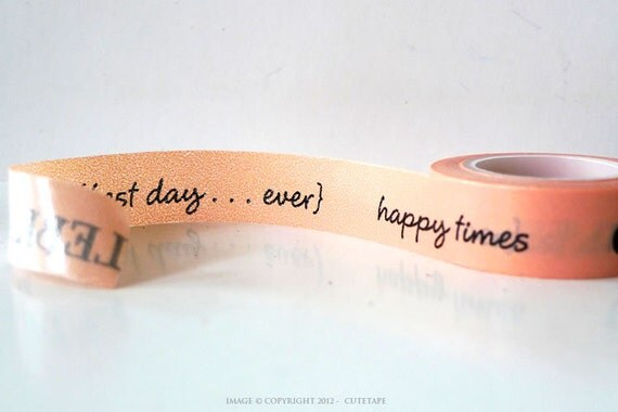 Cakewalk Washi Tape Peach Best Day Ever, Celebrate, Happy Time