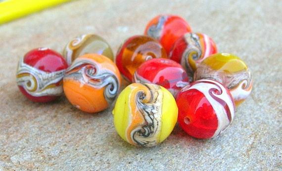 Reserved for MARIJKE - Autumn Lampwork Beads September Trends