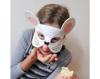 Kids Mouse Mask Children Carnival Mask Angelina Ballerina Dress up Mask Costume Accessory, Pretend Play Toy Toddlers, Boys, Girls