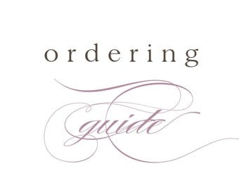 Ordering Guide / Pricing Modifications