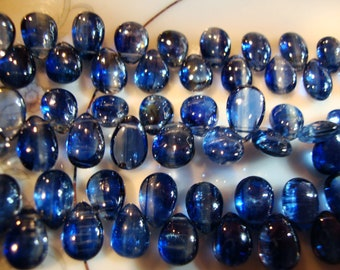 Top Grade Sapphire Blue Kyanite Smooth Polished Pears
