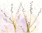 Pussy willow-wall decor- Nature art-Original watercolor painting 10x8 inch