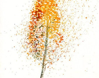 Birch  Print from my original watercolor painting 8x10 inch