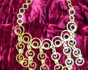 Golden Greek Goddess Necklace, Time Raveler