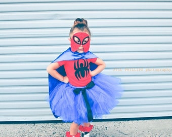 Spiderman Inspired Tutu Costume Include Tutu And Shirt