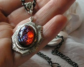 Opal Necklace, Fire Opal Necklace, Fashion Royalty, Dragon Breath Necklace, Gothic Necklace, Accessories, Spring gifts, Prom, Mother's Day