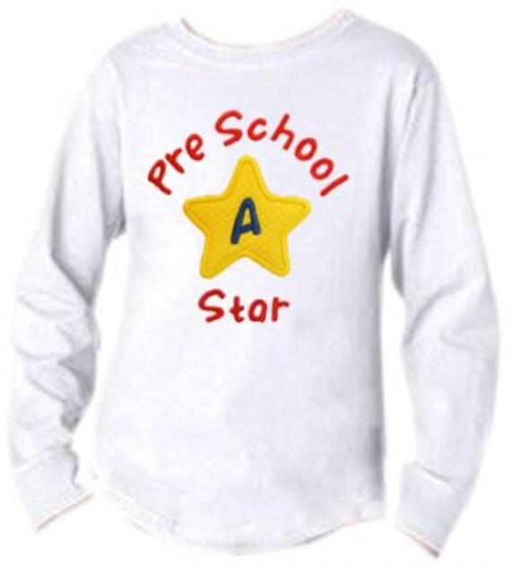 School Star Applique Monogram - 2 sizes