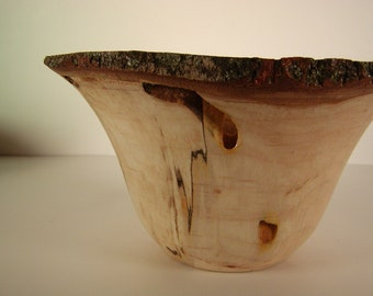REDUCED WAS 55 Spalted Maple Bark Edge Bowl #2125