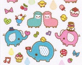 Kawaii My Little Friends Sticker Sheet - B