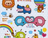Kawaii My Little Friends Sticker Sheet - C
