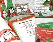 Kawaii Christmas Joy Tablesetting Editable Printable PDF