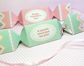 Kawaii Sweet Love Mint Candy Giftbox Cute Valentine's Day Easter Love Birthday Party Treatbox Sweet Box Packaging Editable Printable PDF