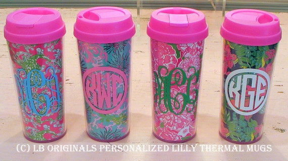 Personalized Lilly Pulitzer Thermal Mugs