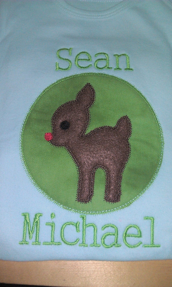 Christmas Reindeer shirt Personalized boy or girl