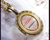 Antique Style TITANIC Locket  - Great Gift Idea   DC 8076