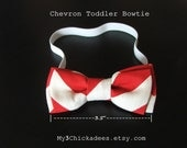 Baby & Toddler Bow Tie Red White Chevron