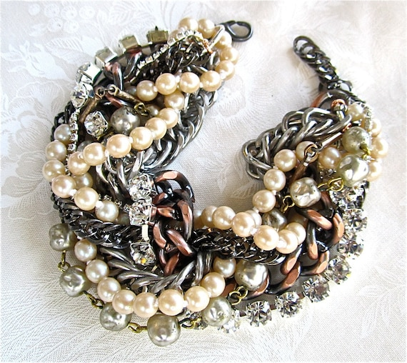 https://www.etsy.com/listing/60083989/mixed-metal-bracelet-chunky-chains