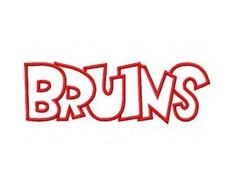 Bruins Embroidery Machine Applique Design Design 2311