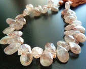 1/4 Strand - Sunstone Pear Briolettes (No. 1430)