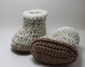 Fur Trimmed Ugg Boot Booties 0-6 months and 6-12 months