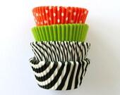Halloween Mix Cupcake Liners (80) - Black, Orange and Lime