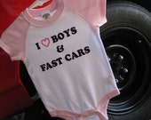 Boys and Fast Cars Baby Girl Bodysuit