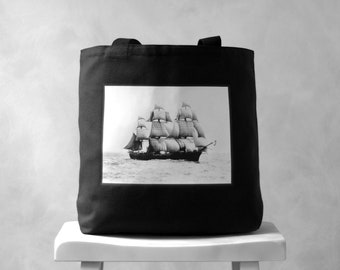 The Volage - Vintage Photograph - Black or Natural Canvas Bag - Carryall Tote