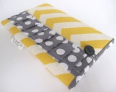 Kindle Fire case , Kindle case , Nook case , Kobo case, Galaxy case, Nexus 7 case  PADDED - Yellow Chevron