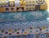 Fat Quarter Bundle: Cotton Fabric Jenean Morrison Power Pop Collection  - 1 1/4 YDs